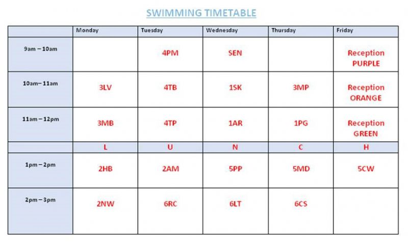swimming-timetable