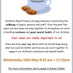 Coffee Morning Wednesday 16th May 9:15 am – 11:15am